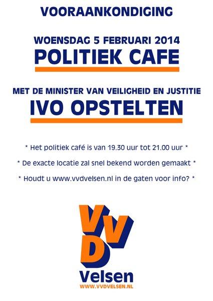 Minister Opstelten op de koffie bij VVD Velsen