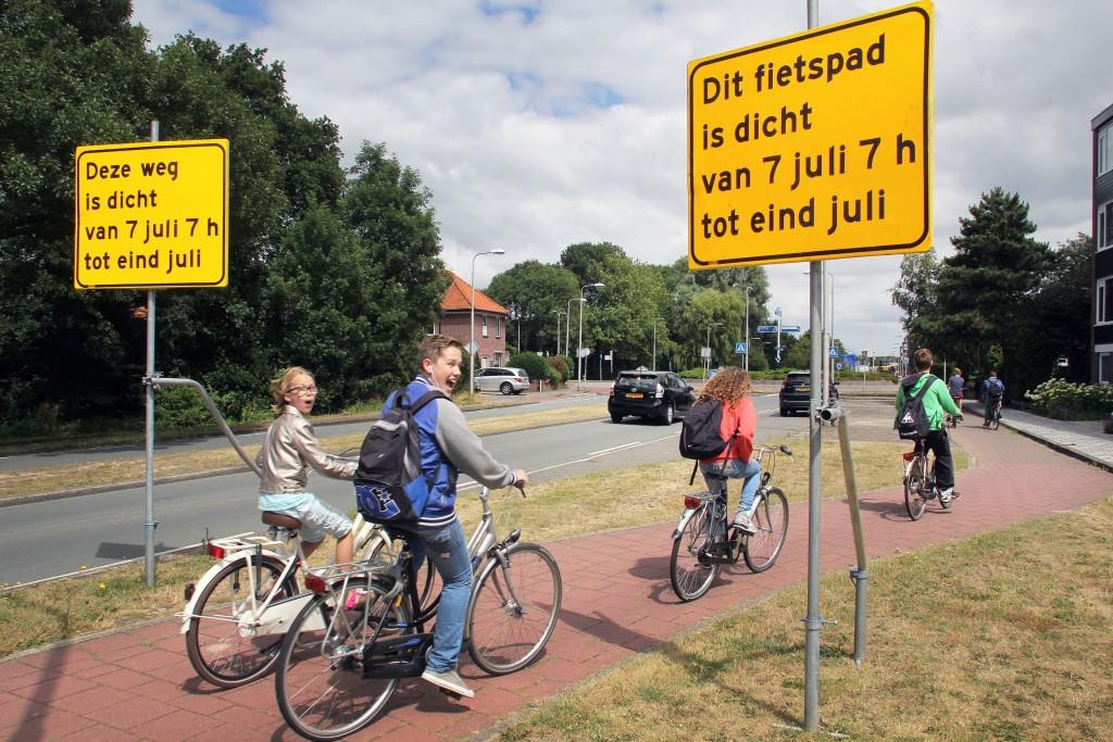 Ernstige verkeershinder Santpoort-Noord