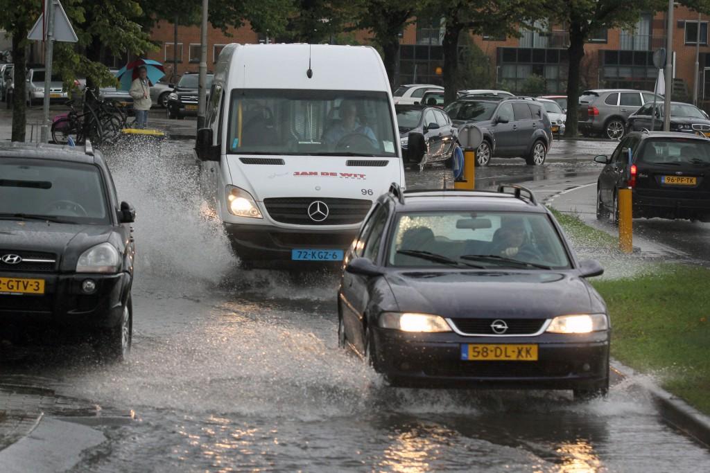 Veel overlast door zware regenbuien
