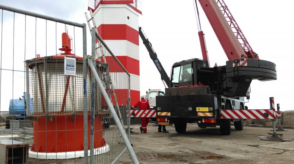 Havenlicht pieren IJmuiden vernieuwd