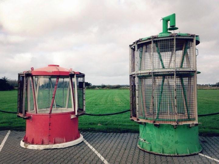 Oude havenlichten naar Texels museum