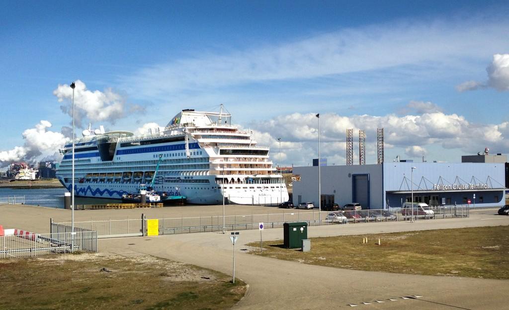 Vroege bezoeker voor cruisehaven