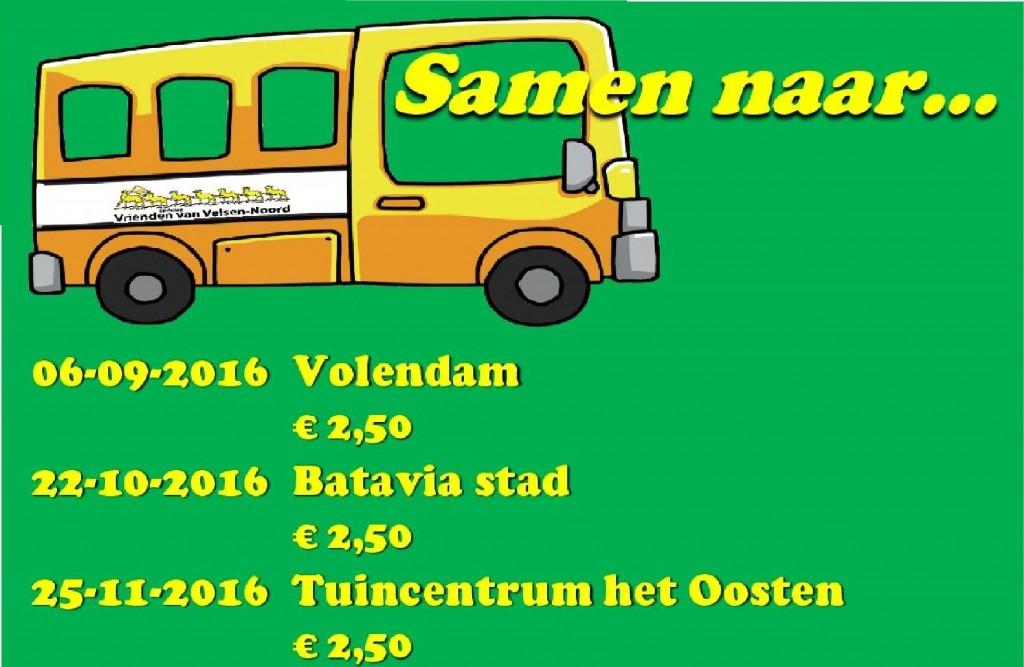 Vriendenbus rijdt naar Volendam