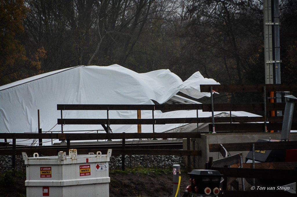Stormschade tent HOV-buslijn