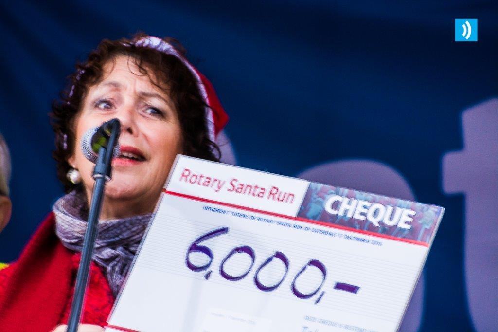 275 deelnemers voor Rotary Santa Run