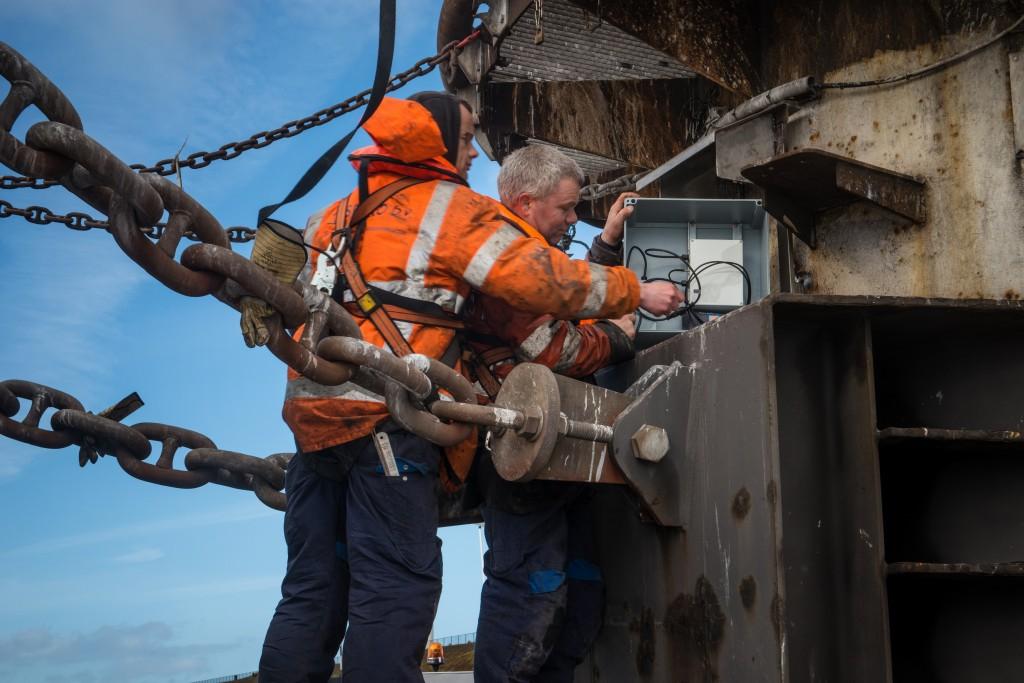 Sensor meet krachten bulkcarriers
