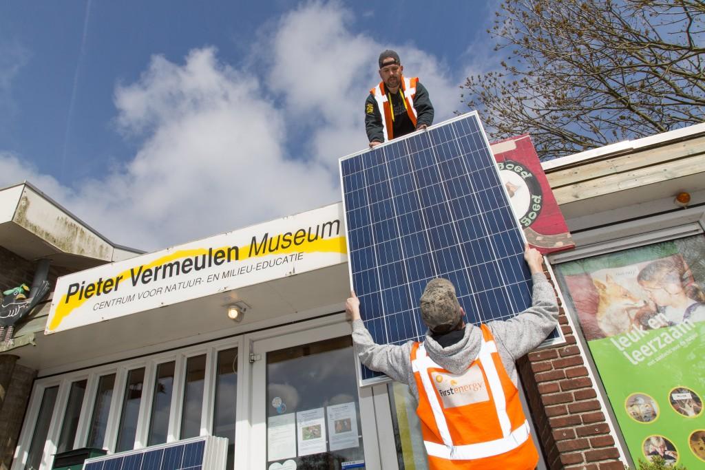 Zonnepanelen op het Pieter Vermeulen museum