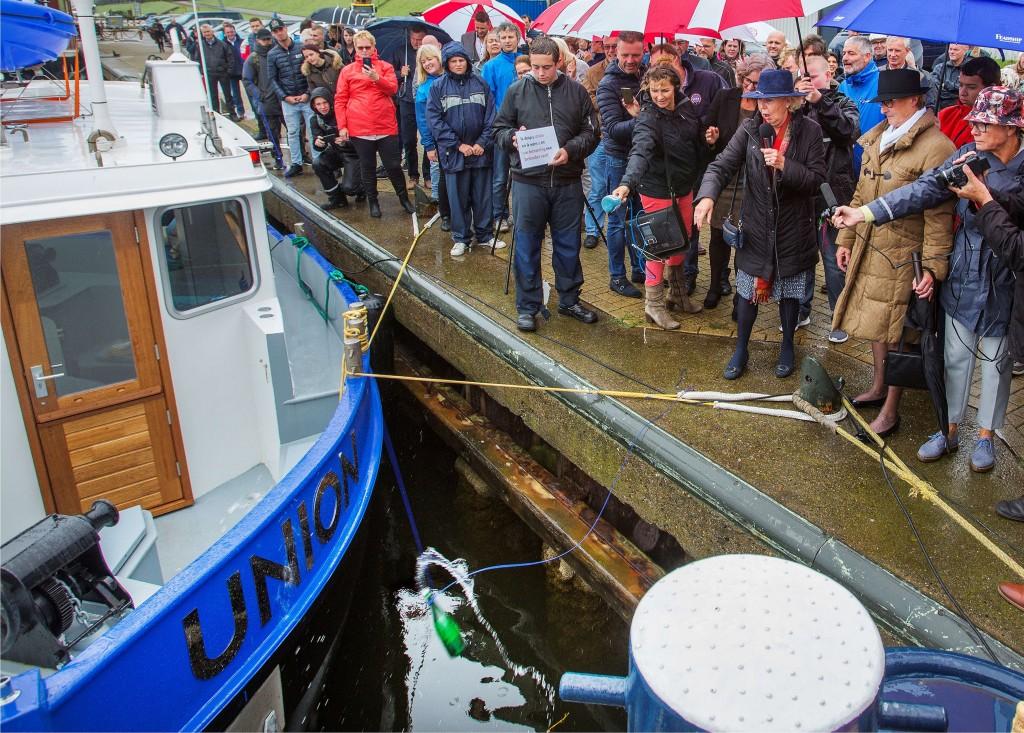 Opleidingsschip 'Union' gedoopt