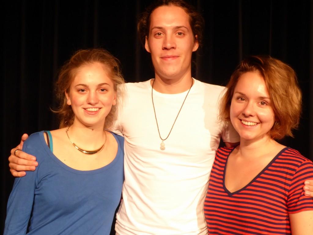 Britte, Paul en Femke
