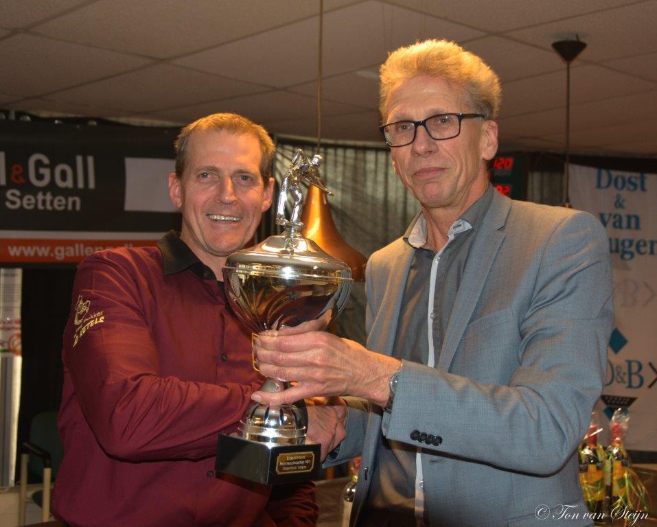 A. Ketel winnaar Kaderbiljart toernooi Velserbroek