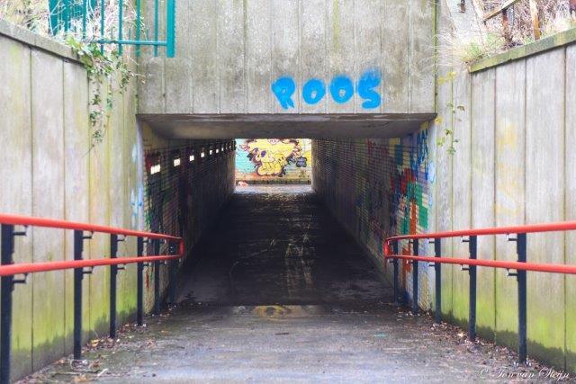 Opknapbeurt tunneltje station Santpoort-Noord.