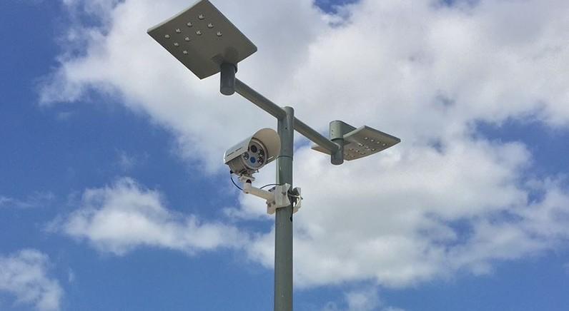 Camera's geplaatst voor scannen kentekens