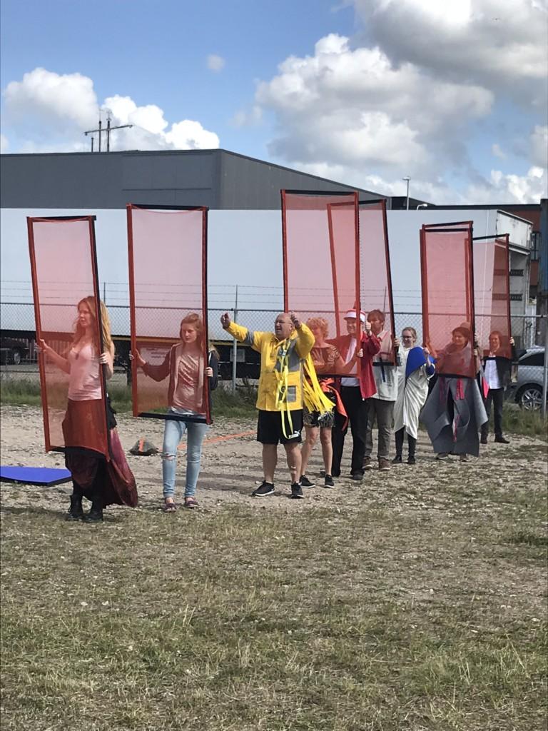 Theaterproductie LUWTE in havengebied