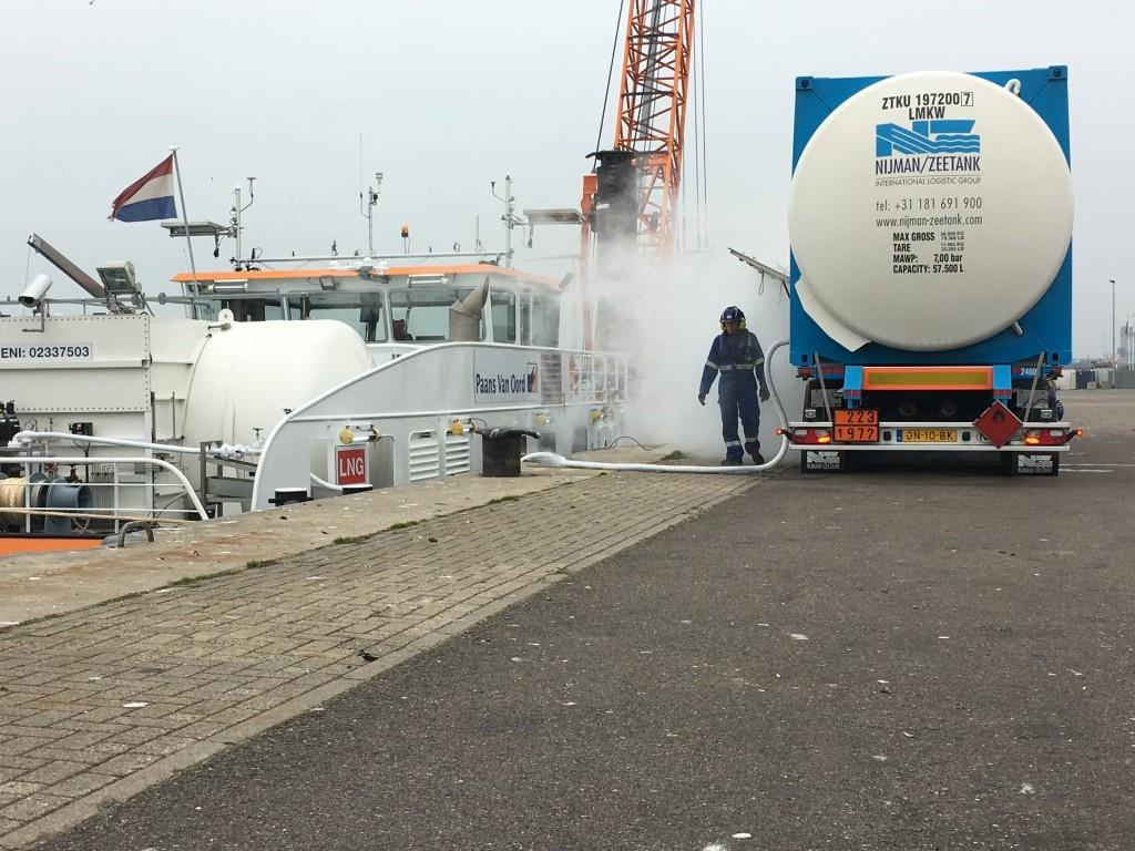 Eerste keer bunkeren met LNG in IJmuiden