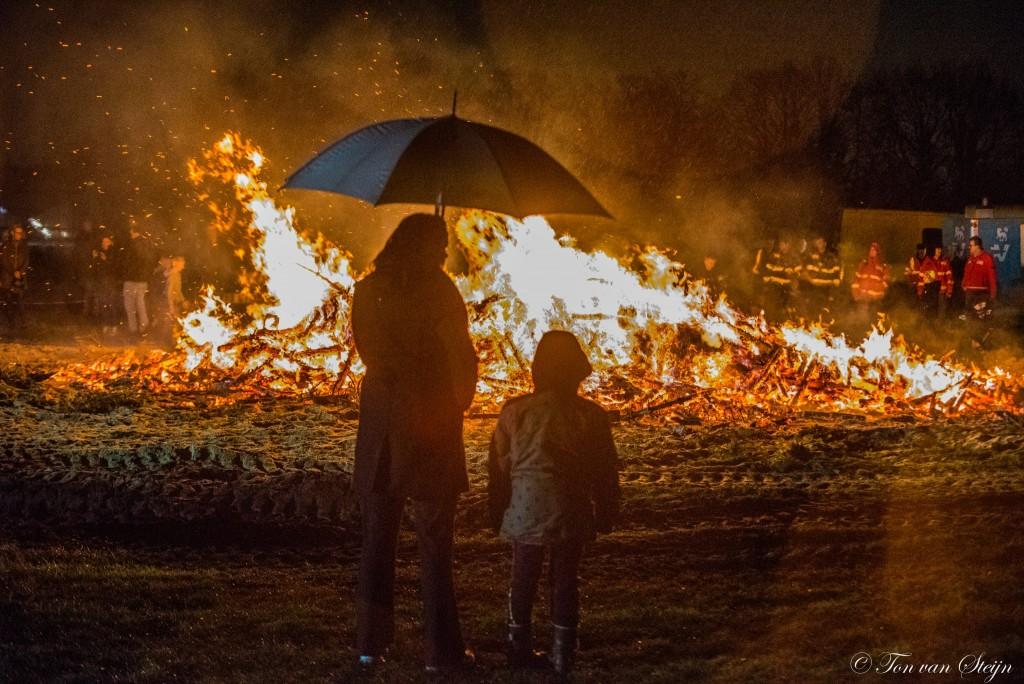 Brand in de kerstbomen