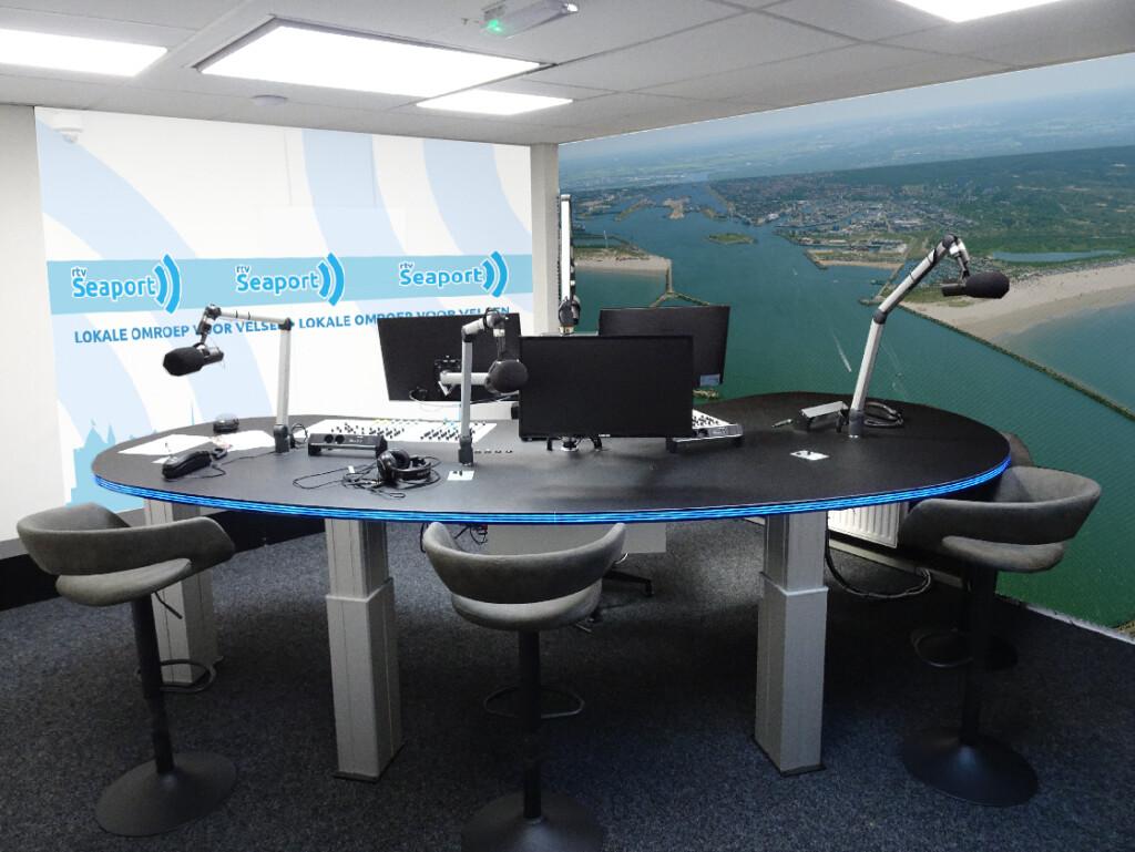 Kijk live mee bij opening nieuwe radiostudio op RTV Seaport