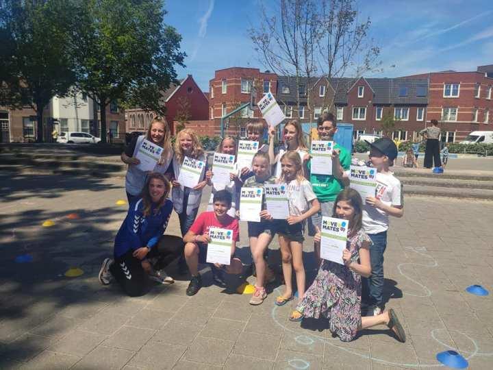 Leerlingen de Klipper opgeleid tot speelpleincoaches via Move Mate project