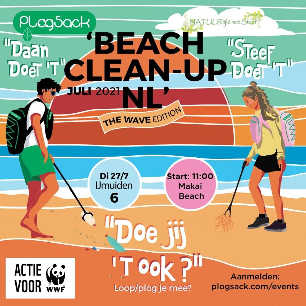 Ruim het strand op tijdens beach clean up