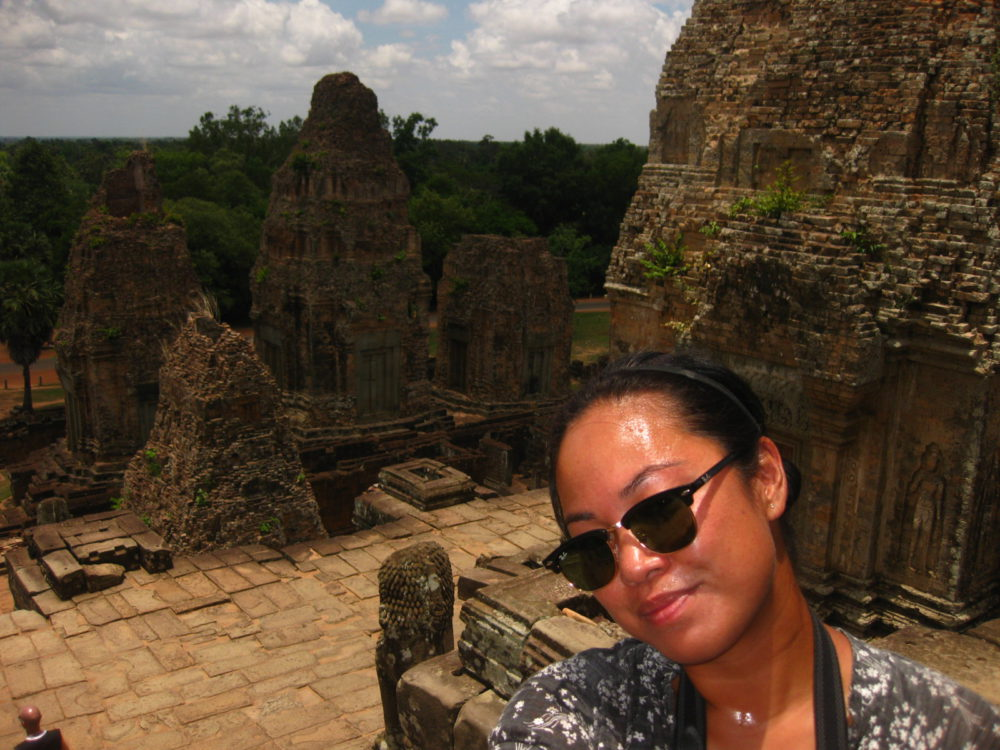 Sweaty at Angkor Wat - Travel Outtakes | www.rtwgirl.com