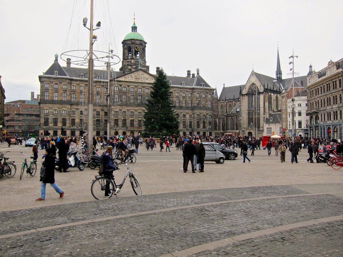 Dam Square Amsterdam Christmas