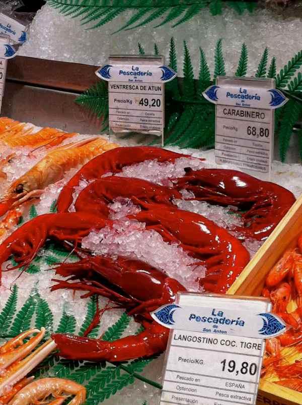 Seafood at Mercado de San Miguel in Madrid Spain | rtwgirl