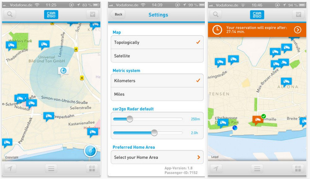 Car2go - Best Travel Apps