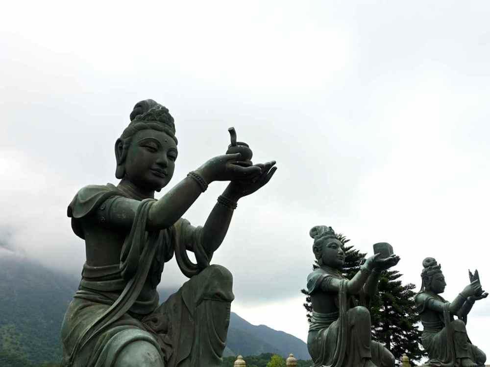Devas at Tian Tan Buddha Lantau Island