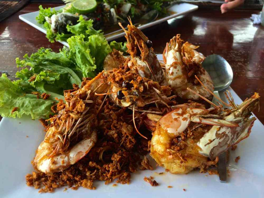 Seafood lunch at Koh Panyee floating fishing village