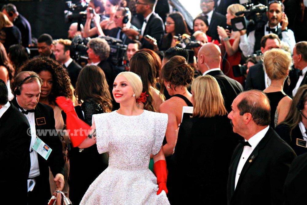 Lady Gaga Oprah Red Carpet 2015