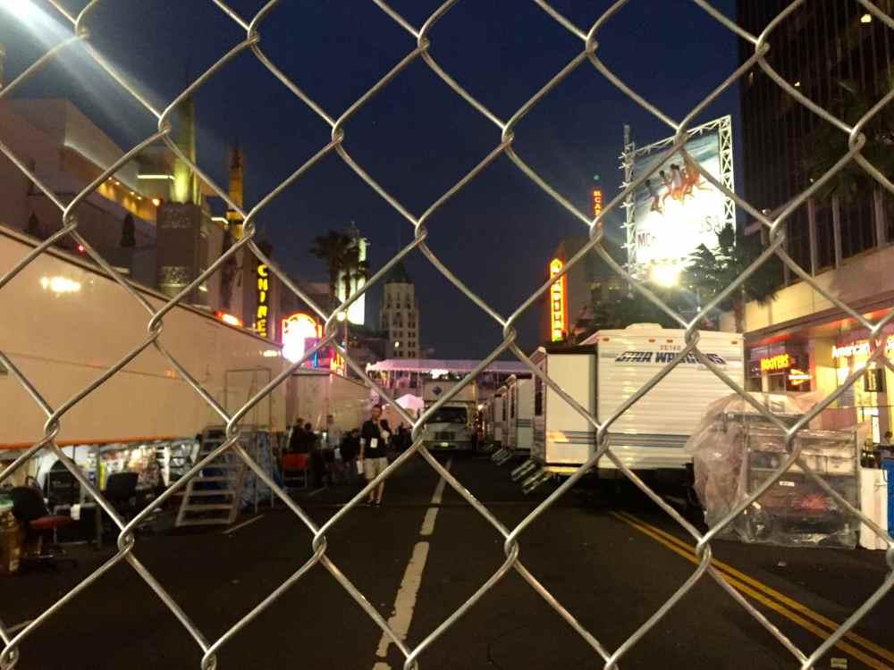 Hollywood Boulevard Oscars Red Carpet Prep 2015