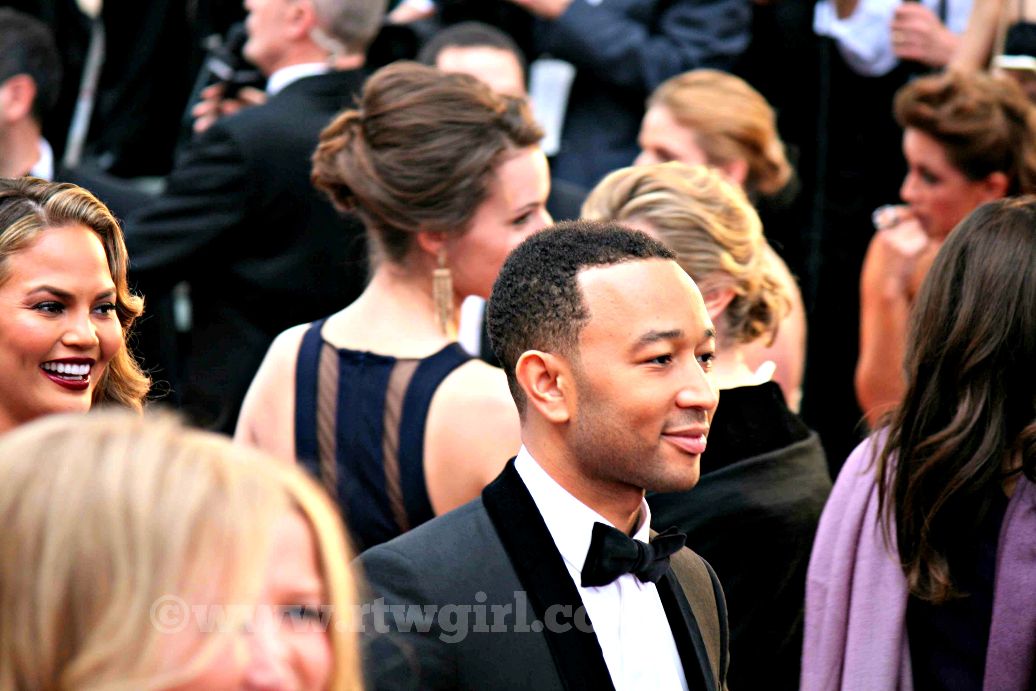 John Legend Chrissy Teigen Oscars Red Carpet 2015