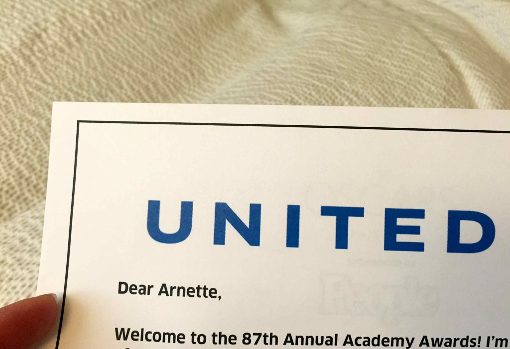 United Airlines Oscars Invite