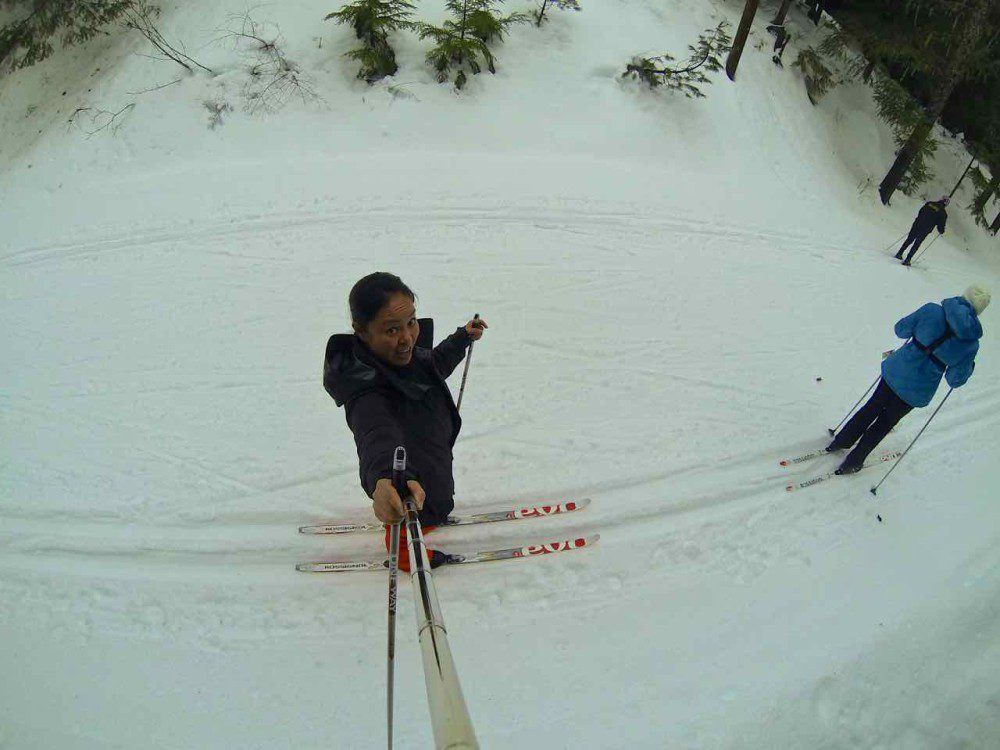 Cross country skiing Passive House - whistler girlfriends trip