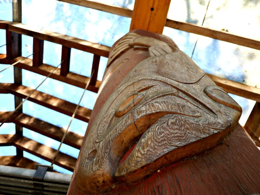 First Nations Carvings In Vancouver, Canada