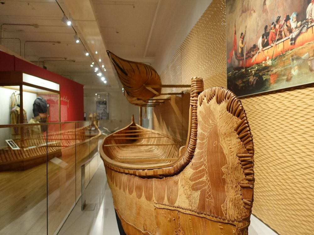 A First Nations Canoe at the ROM