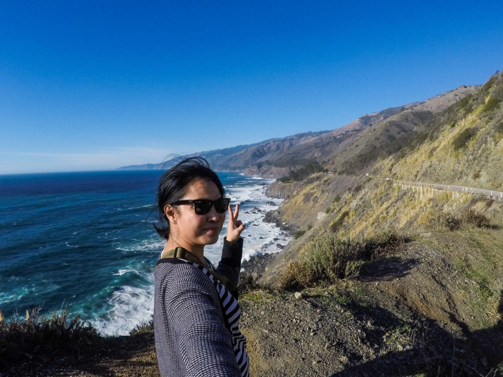GoPro Big Sur Selfie - solo traveler photo tips
