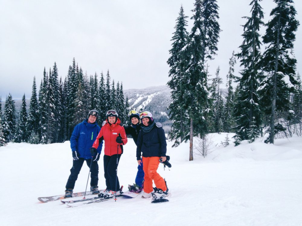 Snowboarding with Nancy Green at Sun Peaks