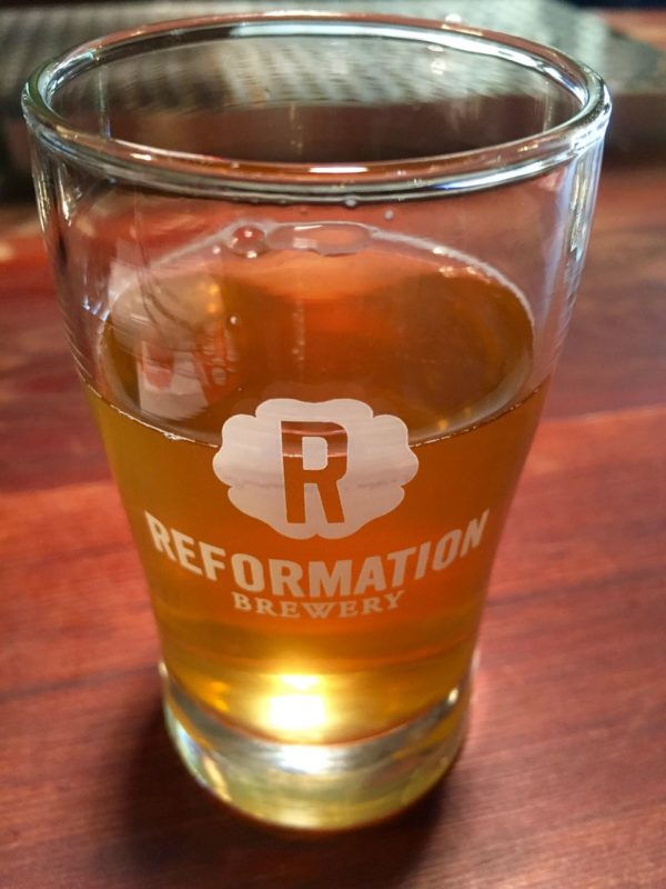 Craft Beer at Reformation Brewery in Woodstock
