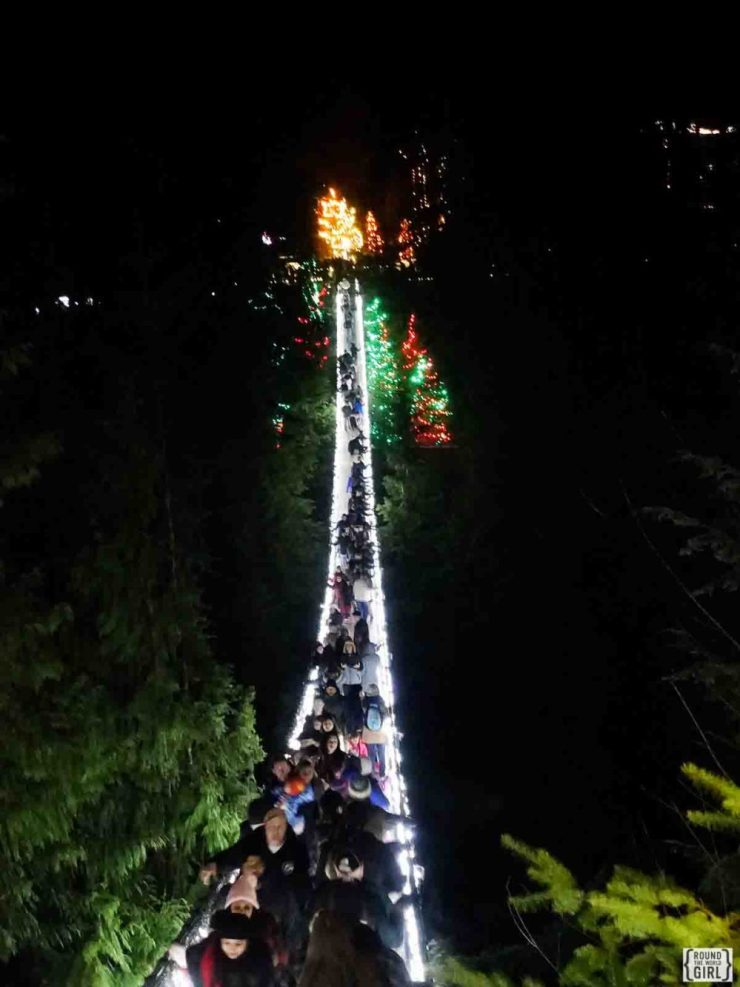 Canyon Lights: At Capilano Suspension Bridge At Christmas Time | www.rtwgirl.com