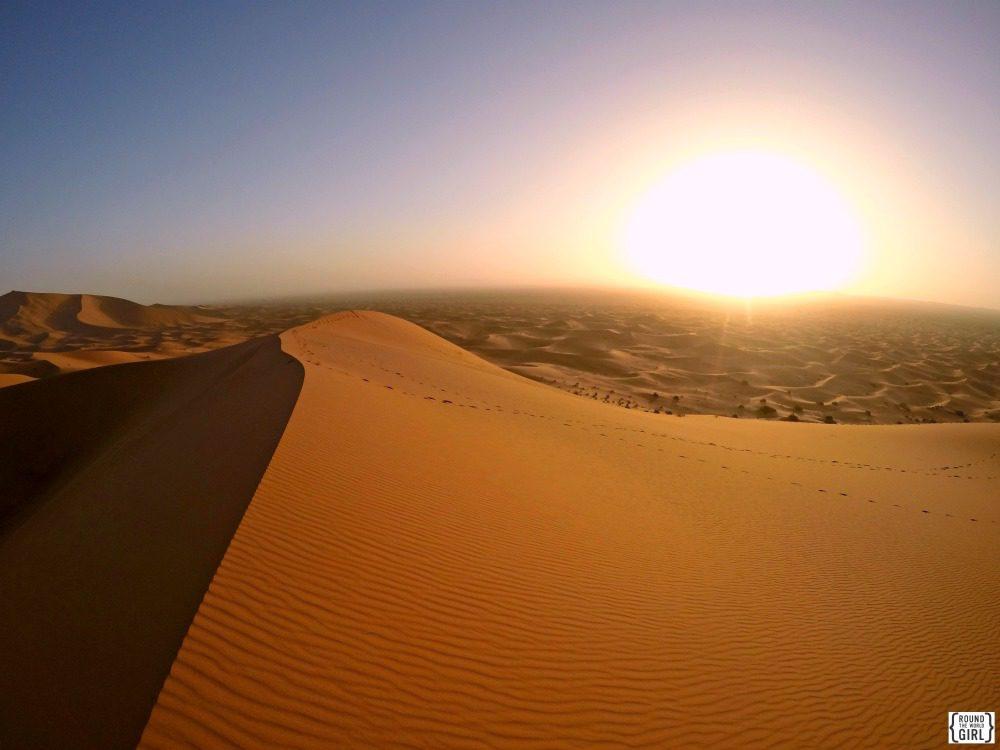 Erg Chebbi Sunrise Sahara Morocco   www.rtwgirl.com