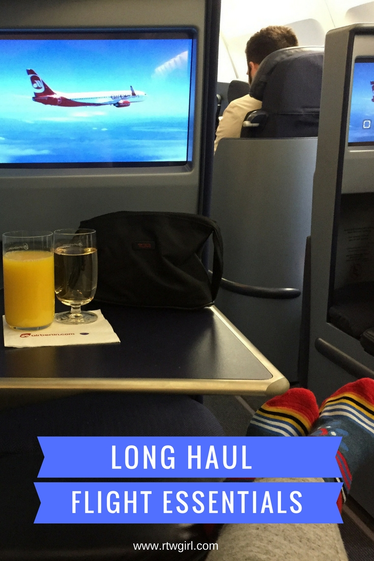 Long-Haul Flight Essentials | www.rtwgirl.com