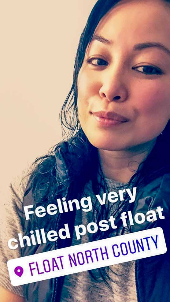 Float Therapy Selfie | www.rtwgirl.com