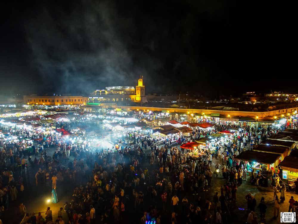 Place Jemaa El Fna Marrakech | www.rtwgirl.com
