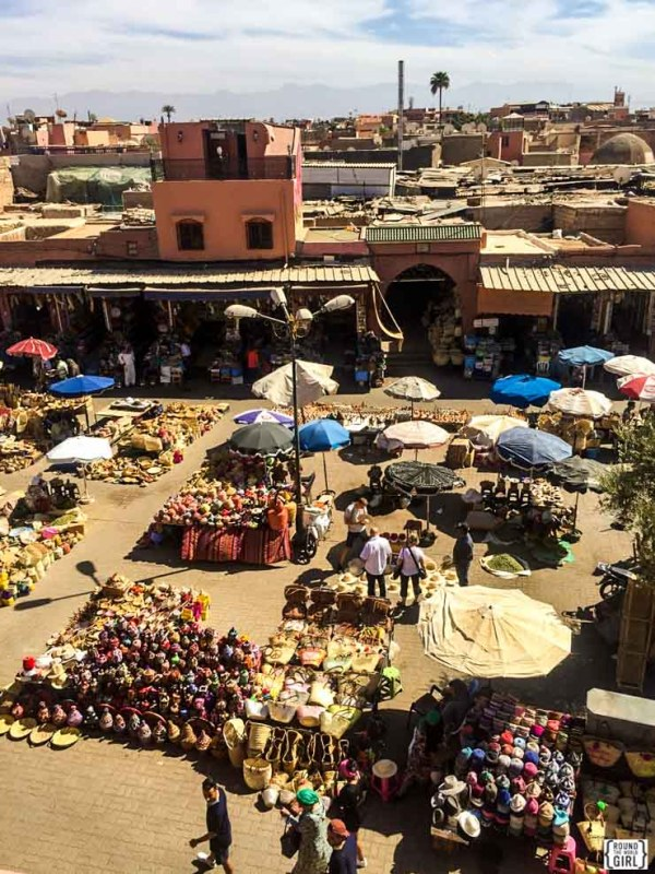 Medina View from Cafe Des Espices in Marrakech