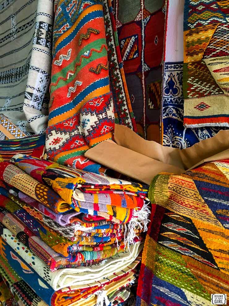 Shopping for rugs in Essaouira   www.rtwgirl.com