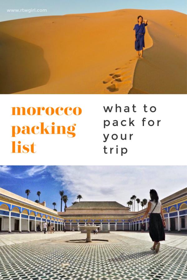 Morocco Packing List   rtwgirl