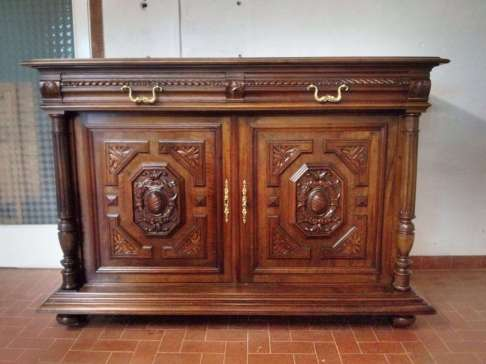Walnut Neo Renaissance Belief restoration