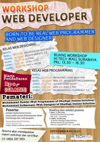 workshop for free