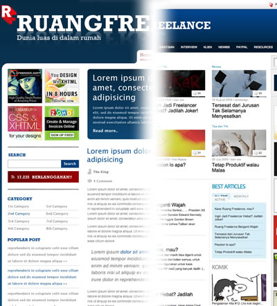 ruangfreelance redesign