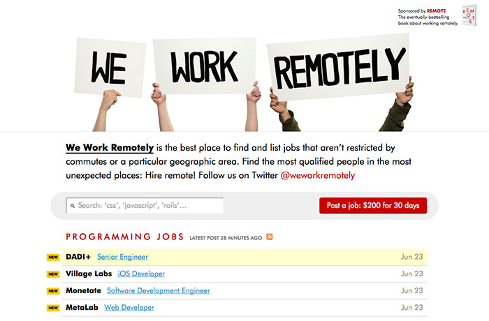 weworkremotely / Ruang Freelance